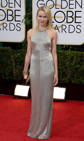 epa04017709 British-Australian actress Naomi Watts arrives for the 71st Annual Golden Globe Awards at the Beverly Hilton, in Beverly Hills, California...