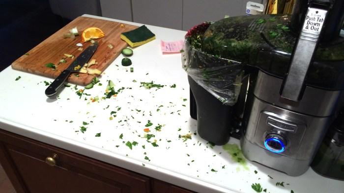 The aftermath: Decidedly un-Martha.