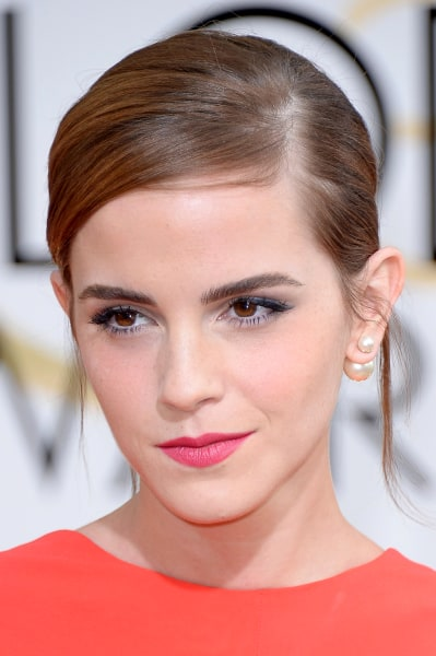 BEVERLY HILLS, CA - JANUARY 12:  71st ANNUAL GOLDEN GLOBE AWARDS -- Pictured: Actress Emma Watson arrives to the 71st Annual Golden Globe Awards held ...