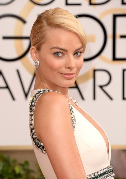 BEVERLY HILLS, CA - JANUARY 12:  Actress Margot Robbie attends the 71st Annual Golden Globe Awards held at The Beverly Hilton Hotel on January 12, 201...