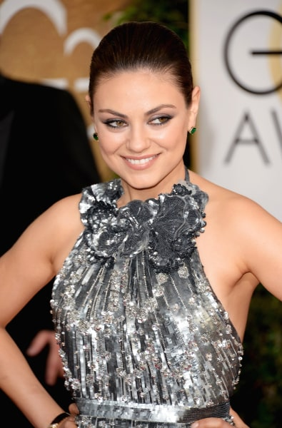 BEVERLY HILLS, CA - JANUARY 12:  Actress Mila Kunis attends the 71st Annual Golden Globe Awards held at The Beverly Hilton Hotel on January 12, 2014 i...