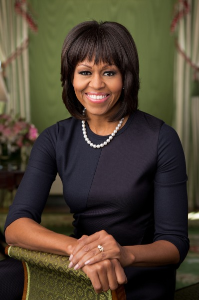 Official portrait of First Lady Michelle Obama in the Green Room of the White House, Feb. 12, 2013. (Official White House Photo by Chuck Kennedy)  Thi...