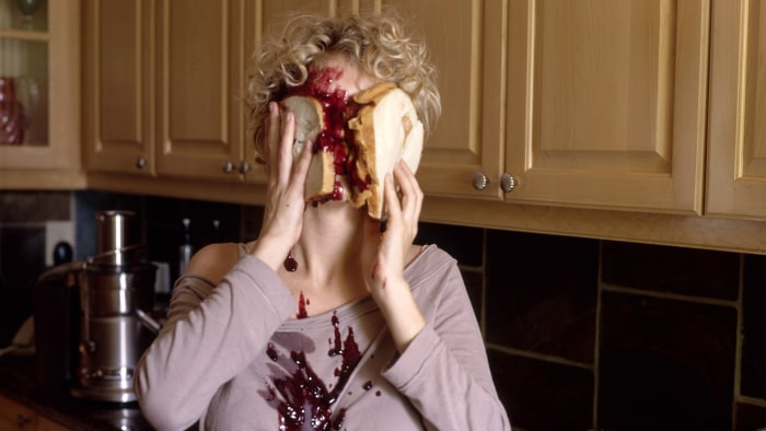 Image: PB&J in the face