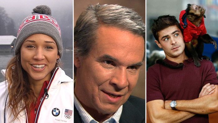 "Lolo Jones is going to Sochi for ""redemption,"" Greg Mortenson is grateful allegations were raised and Zac Efron makes friends with a monkey."