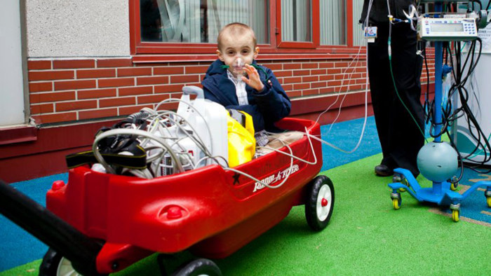 The Children's Hospital of Philadelphia also uses kid-friendly wagons to transport their little patients when possible.