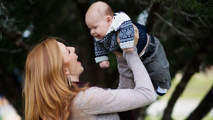 Ashley Clawson and son Beckett