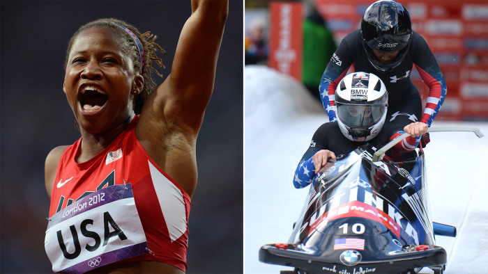 Lauryn Williams, a sprinter who won gold as part of the 4x100-meter relay team in London, will join Jones as part of the U.S. bobsled team in Sochi.