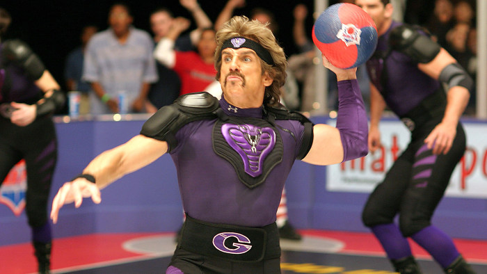 White Goodman, aka Ben Stiller in the movie Dodgeball: A True Underdog Story, does his share of bullying in the gym.