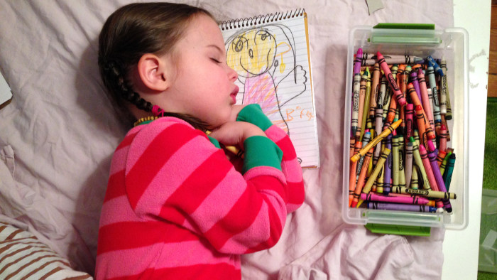 Bedtimes were a struggle for 4-year-old Riley Carey-Brown, until her parents discovered a secret weapon: Art.