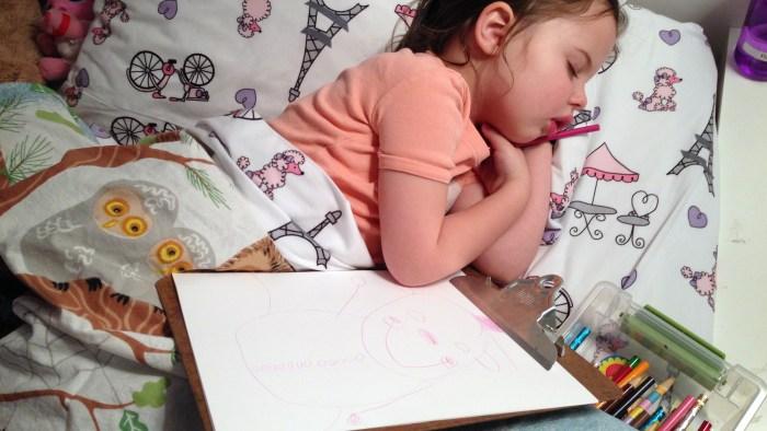 Sweet dreams, little artist.