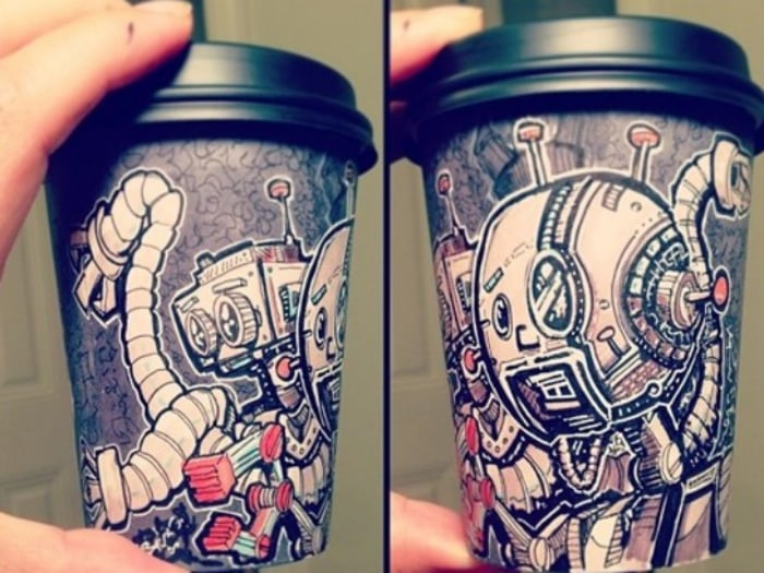 Meet the guy who makes intricate coffee cup art (for a good cause ...