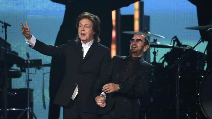IMAGE: Paul McCartney and Ringo Starr