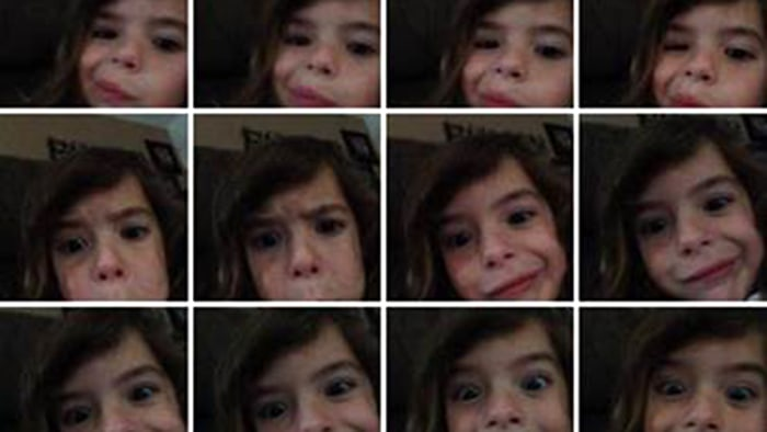 Julz Hernandez found these selfies of her daughter on her phone one day.