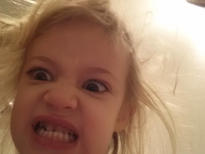 My 4 year old daughter loves selfies...My phone is full of these.