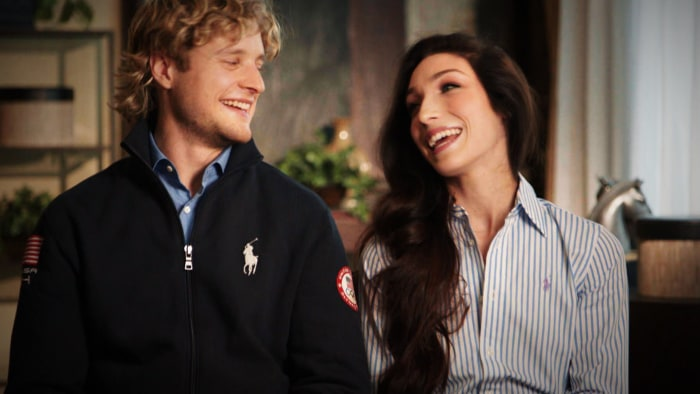 "Ice dancing duo Charlie White and Meryl Davis said that unlike most Olympic moms, theirs have gone to ""every competition."""
