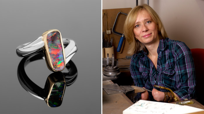 Annette Gabbedey is a handless jewelry designer.
