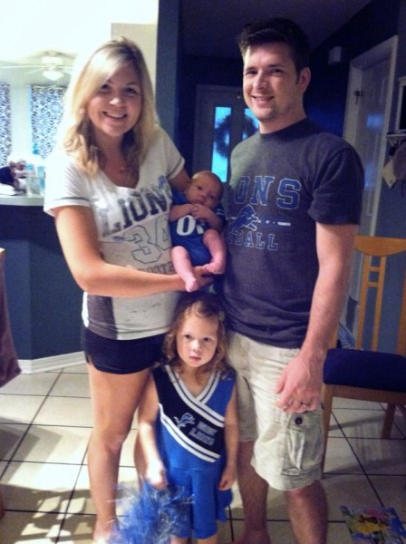Our poor Lions! Celebrating game day after we brought my son home from the NICU!