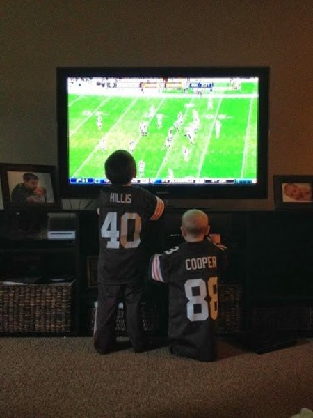 Browns fans…hopefully not setting these two up for a lifetime of disappointment.
