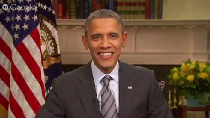 President Obama's 'virtual roadtrip' Google Hangout on Friday.
