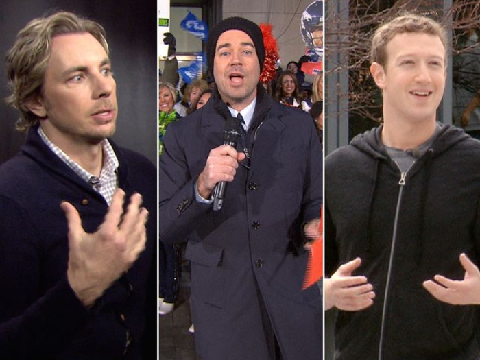 Actor Dax Shepard had some words for the paparazzi, Carson Daly held a pep rally on the plaza and Mark Zuckerberg talked Facebook with Savannah.