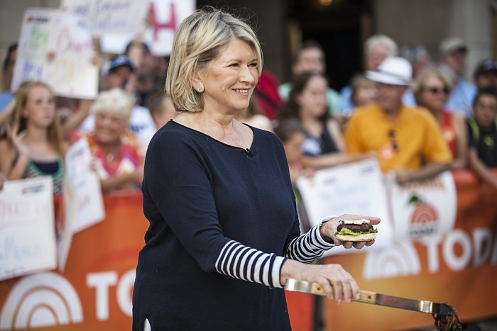 Martha Stewart and Matt Lauer cook on the TODAY show in New York on July 2, 2014.