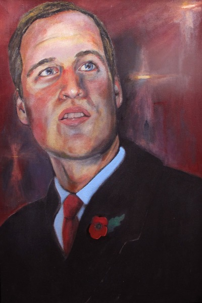 Undated handout photo issued by The Wales Office of a new portrait of the Duke of Cambridge painted by Dan Llywelyn...