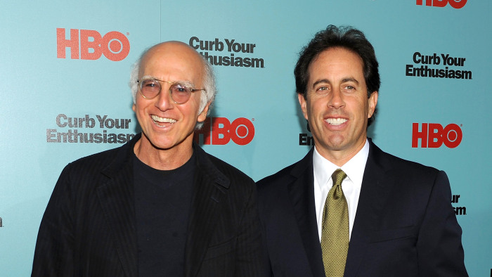 Image: Larry David and Jerry Seinfeld in 2009