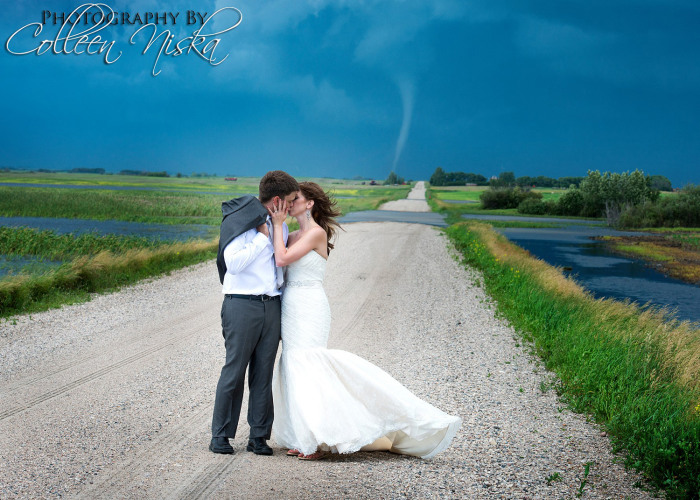 tornado wedding