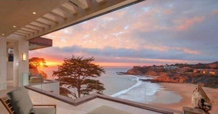 The beach view at 171 Emerald Bay, Laguna Beach, Calif.