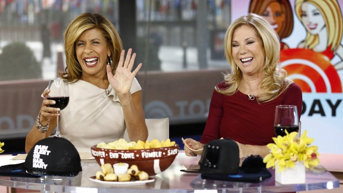 "Hoda Kotb and Kathie Lee Gifford appear on NBC News' ""Today"" show -- (Photo by: Peter Kramer/NBC/NBC NewsWire)"