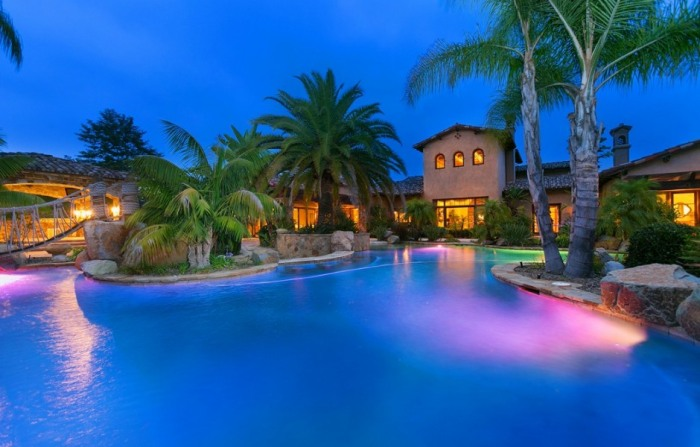 LaDainian Tomlinson's Poway, Calif., estate includes a resort-like pool and cabana.