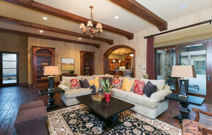 The family room in LaDainian Tomlinson's nearly 10,000-square-foot home.