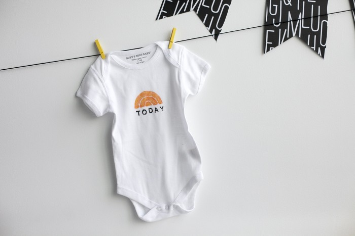 A TODAY onesie... part of any newborn's essential wardrobe!