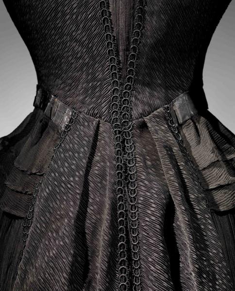 Mourning Dress (Detail), 1902-1904 Black silk crape, black chiffon, black taffeta The Metropolitan Museum of Art, Gift of The New York Historical Soci...