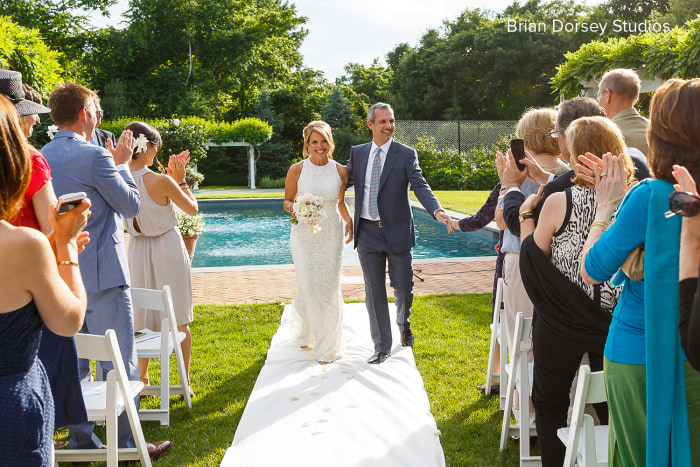 Katie Couric and John Molner decided to do their own thing and walk down the aisle together at their non-traditional wedding on June 21 in the backyard of Couric's home in East Hampton, New York.
