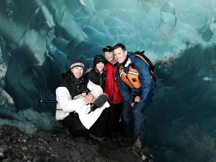 Mendenhall Glacier inside