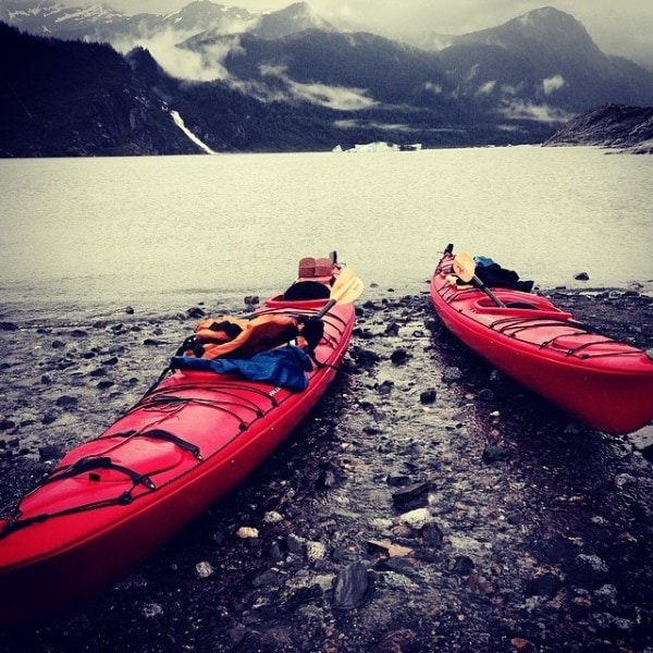 Paul Manson kayaks