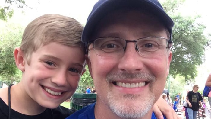 Happy ending: A month after missing a field trip with his son, Carter Gaddis took one of his (very few) vacation days to chaperone a zoo field trip.