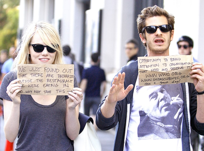 Image: Emma Stone and Andrew Garfield