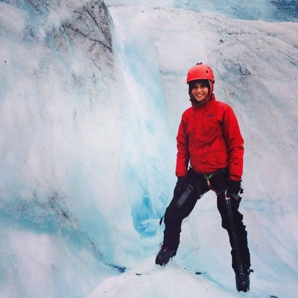 Natalie vs. glacier