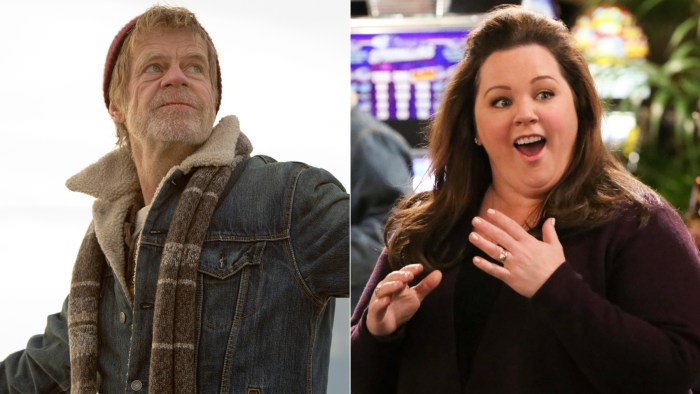 """William H. Macy (""""Shamless"""") and Melissa McCarthy (""""Mike & Molly"""")."""