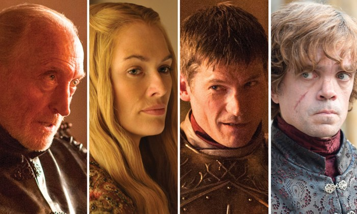 "Image: The Lannister family on ""Game of Thrones"""