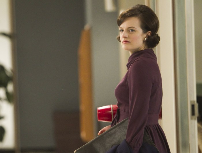 "Peggy Olson, played by Elisabeth Moss, in ""Mad Men,"" Season 5."