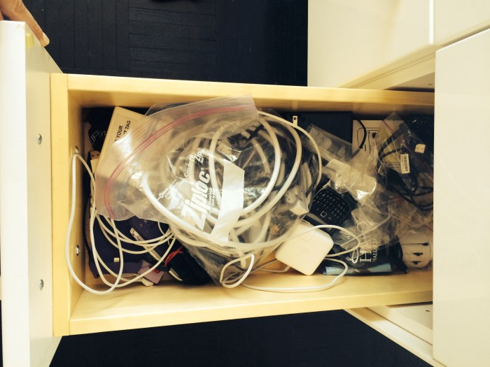My charger drawer -- don't judge, I know you have one!