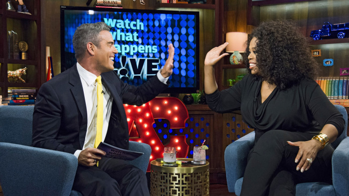 Image: Andy Cohen and Oprah Winfrey