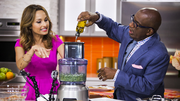 Giada De Laurentiis and Al Roker cook on the TODAY show in New York, on July 15, 2014.