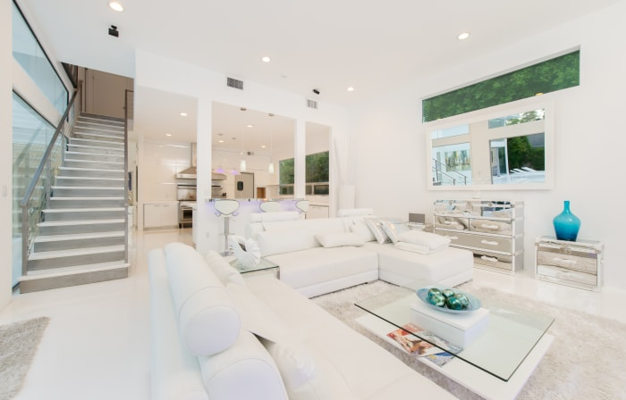 "Bright and white: Akon calls the property ""Heaven."""