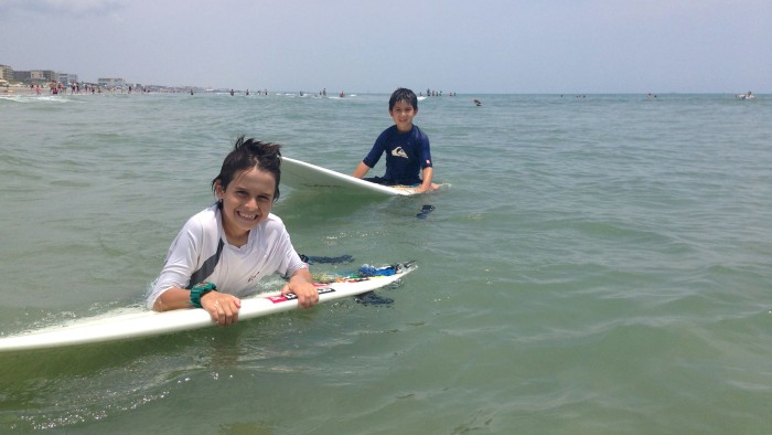 Sebastian Cozzan, 9, with his little brother Alejandro, 7, on Memorial Day weekend in Cocoa Beach, Fla. It was the first time Sebastian was back in th...