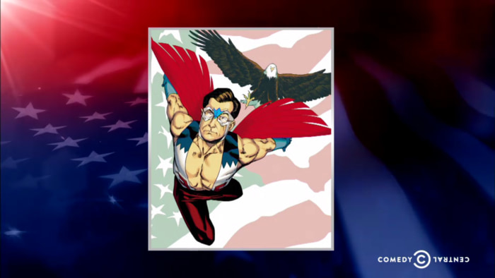 Image: Colbert as The Falcon.
