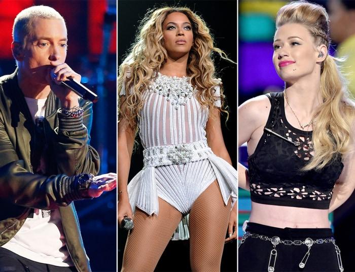 Image: Eminem, Beyonce and Iggy Azalea